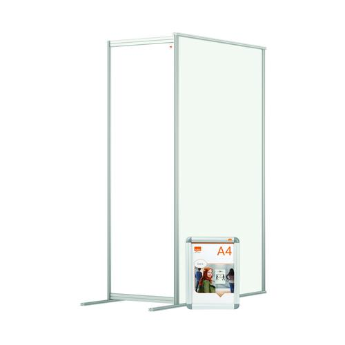 Nobo Modular Free Standing Room Divider Acrylic Extension 600x50x1800mm Clear KF90387