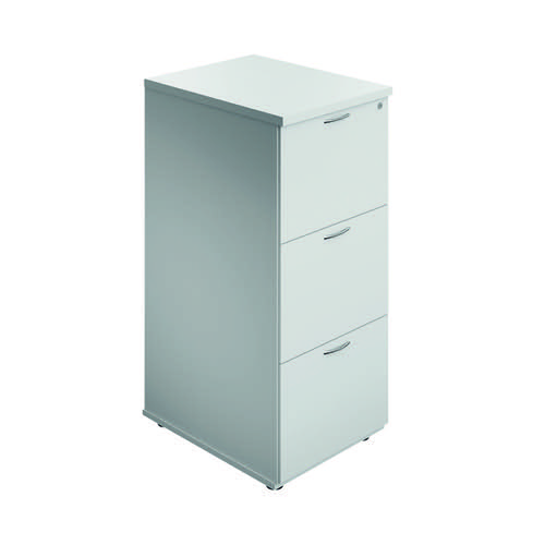 Jemini 3 Drawer Filing Cabinet White KF90464