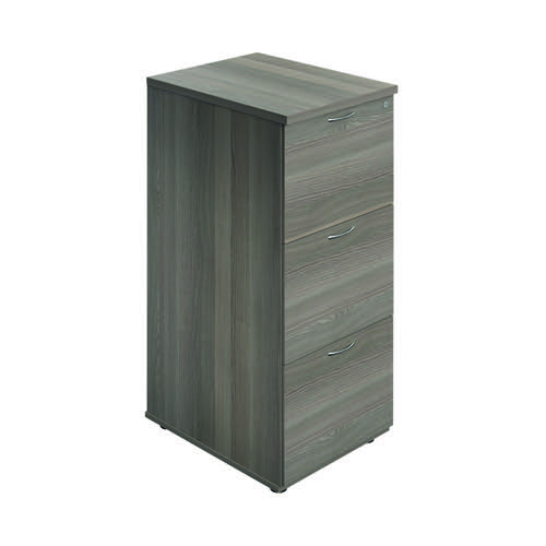 Jemini 3 Drawer Filing Cabinet Grey Oak TES3FCGO
