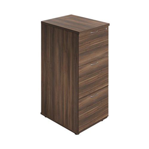Jemini 3 Drawer Filing Cabinet 464x600x1030mm Dark Walnut KF90466