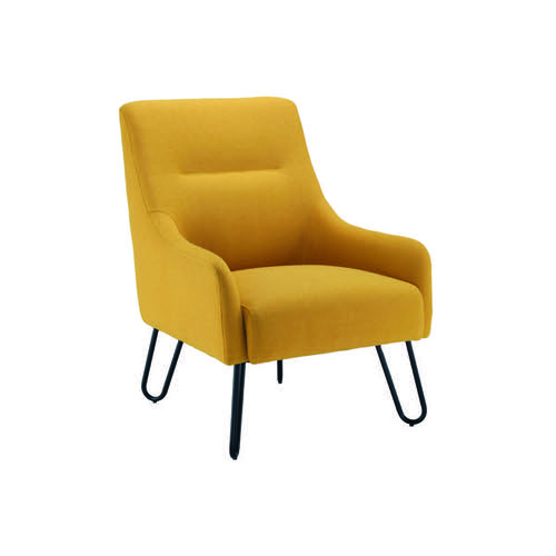 Jemini Reception Armchair Mustard KF90467