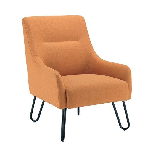 Jemini Reception Armchair 650x800x860mm Mustard KF90467