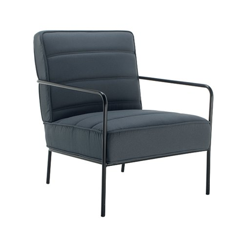 Jemini Reception Wire Frame Armchair Grey KF90472