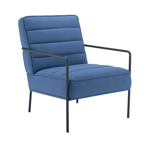 Jemini Reception Wire Frame Armchair Navy KF90478