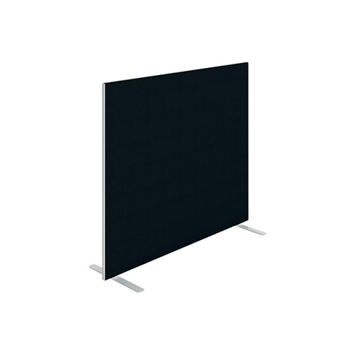 Jemini Floor Standing Screen 1400 x 1200mm Black KF90495