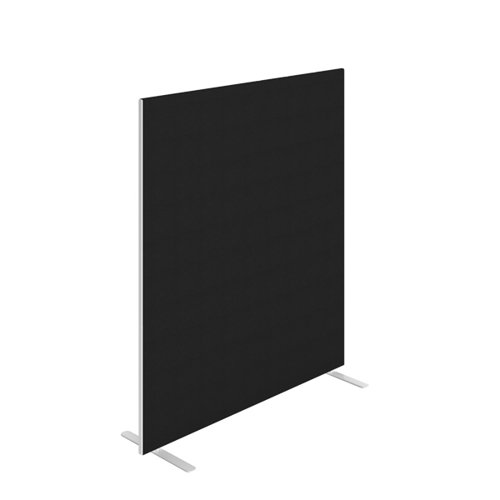 Jemini Floor Standing Screen 1400 x 1600mm Black KF90497