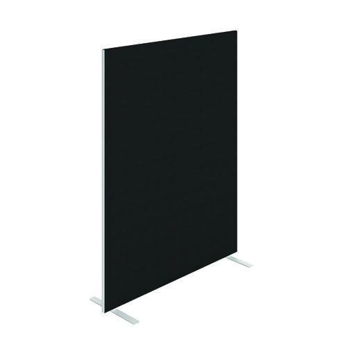 Jemini Floor Standing Screen 1400 x 1800mm Black KF90499
