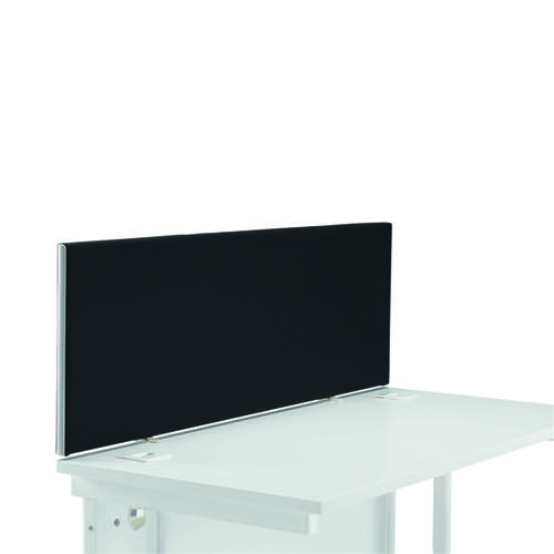 Jemini Straight Desk Screen 1400mm Black KF90502