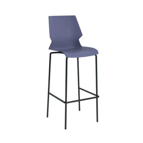 Jemini Uni High Stool Blue/Grey T-UNI-HIGH-B-GREY