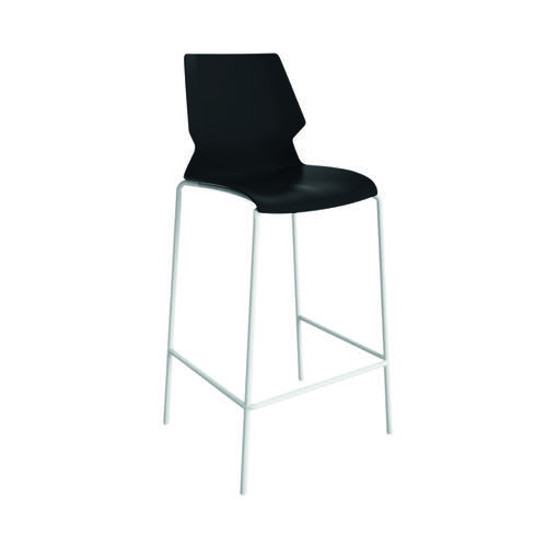 Jemini Uni High Stool Black/White KF90524
