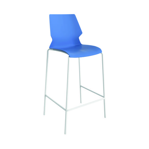 Jemini Uni High Stool Blue/White KF90525