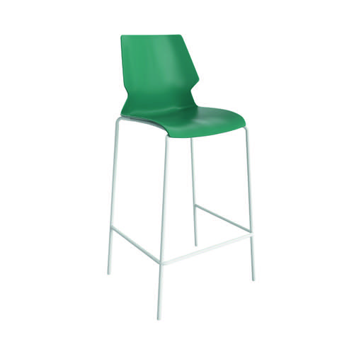 Jemini Uni High Stool Green/White KF90526
