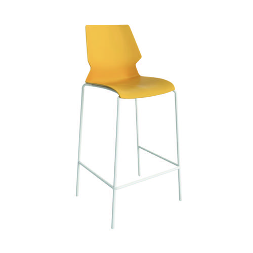 Jemini Uni High Stool Yellow/White KF90527
