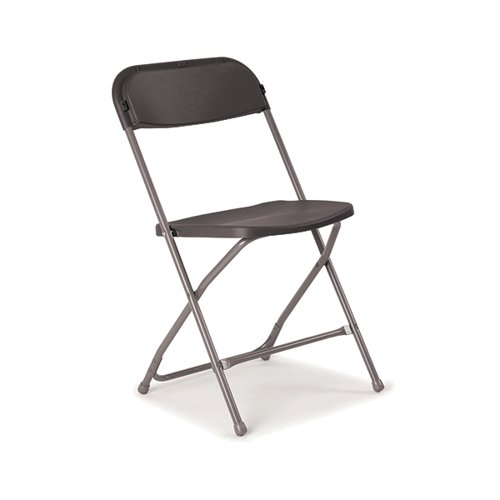 Titan Straight Back Folding Chair Charcoal KF90528