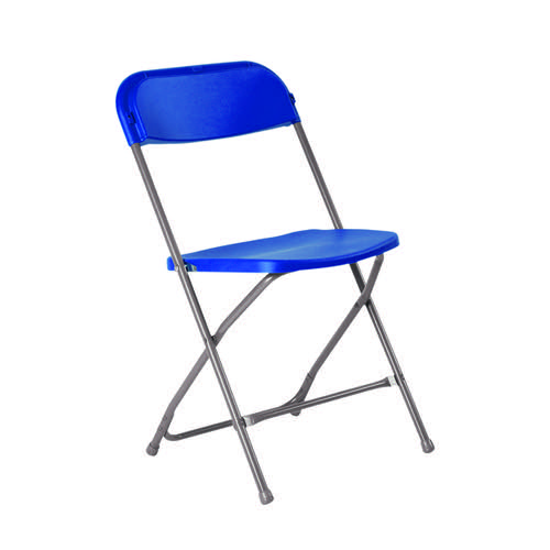 Titan Straight Back Folding Chair Blue KF90529