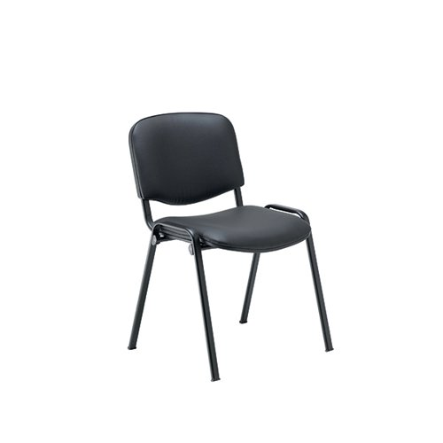 Jemini Ultra Multipurpose Stacker Chair Black Polyurethane KF90557