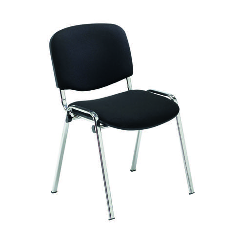 Jemini Multipurpose Stacker Chair Chrome/Black KF90558