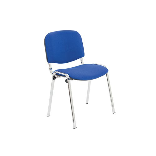 Jemini Multipurpose Stacker Chair Chrome/Blue Polyurethane KF90562