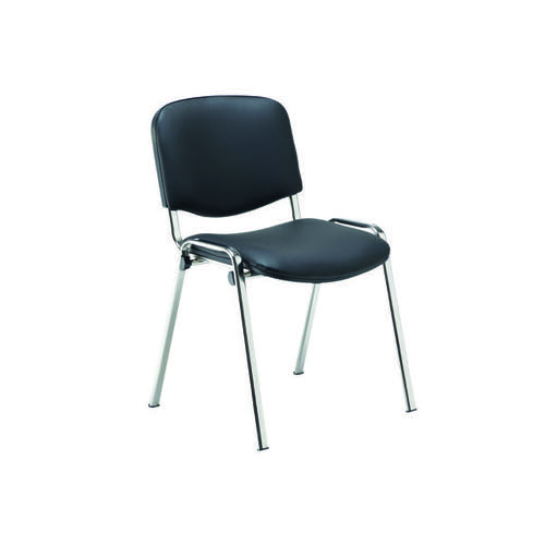 Jemini Multipurpose Stacker Chair Chrome/Black Polyurethane CH0503PU