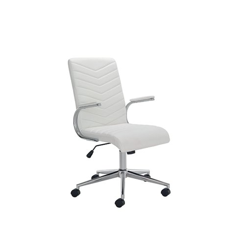 Arista Tarragona Leather Look Chair White KF90567