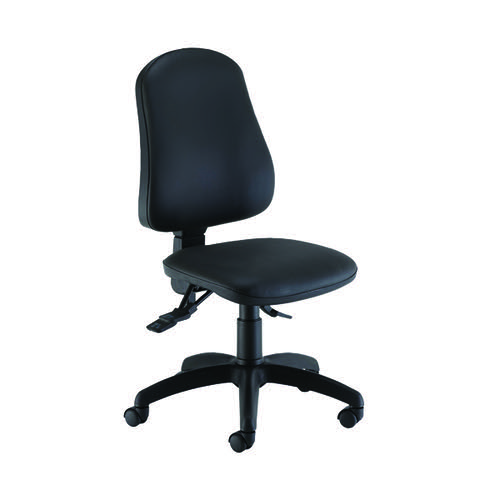 Jemini Intro Posture Chair Polyurethane 640x640x990-1160mm Black KF90586
