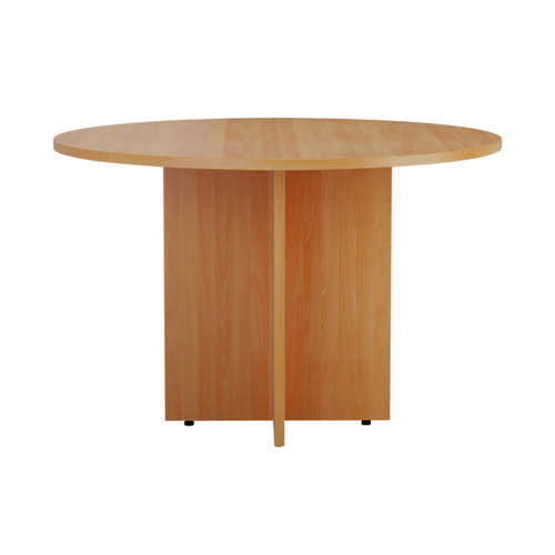 Jemini Round Meeting Table 1100mm Beech TES1100DBE2
