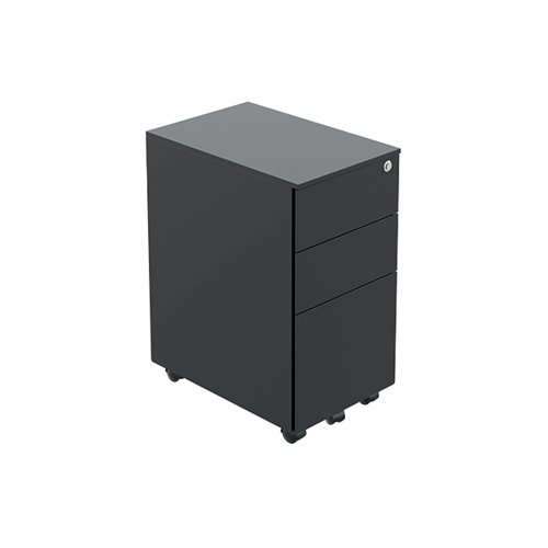 Jemini Contract Steel Pedestal Slim Black KF90691