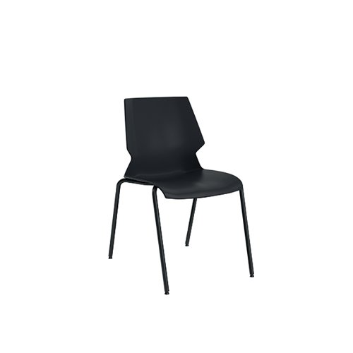 Jemini Uni 4 Leg Chair Black/Grey KF90710
