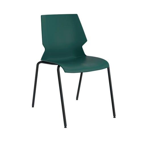 Jemini Uni 4 Leg Chair 530x570x855mm Green/Grey KF90712