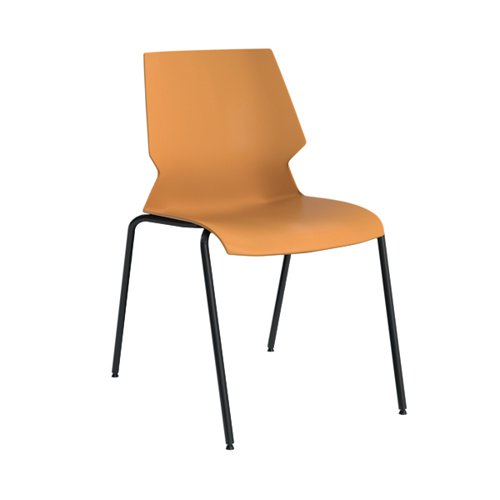 Jemini Uni 4 Leg Chair Yellow/Grey KF90713