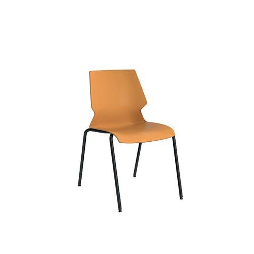 Jemini Uni 4 Leg Chair 530x570x855mm Yellow/Grey KF90713