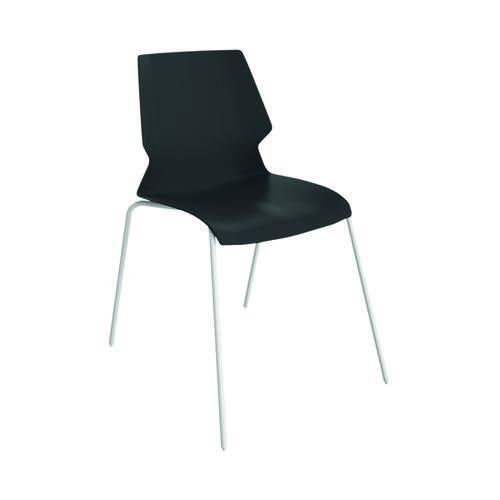 Jemini Uni 4 Leg Chair 530x570x855mm Black/White KF90714