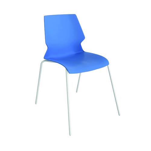 Jemini Uni 4 Leg Chair Blue/White T-UNI-4LEG-B-WHITE