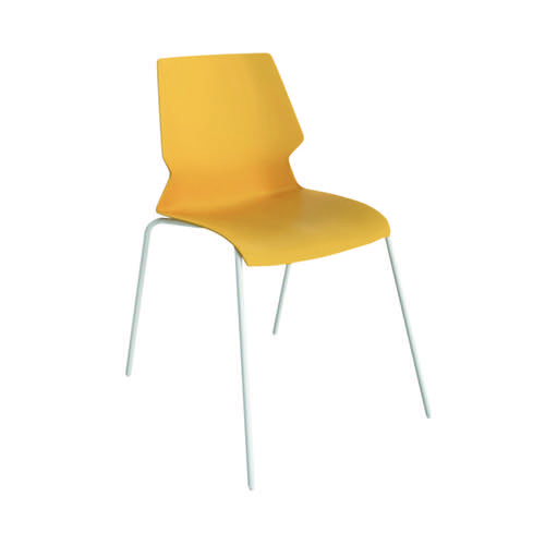 Jemini Uni 4 Leg Chair Yellow/White KF90717