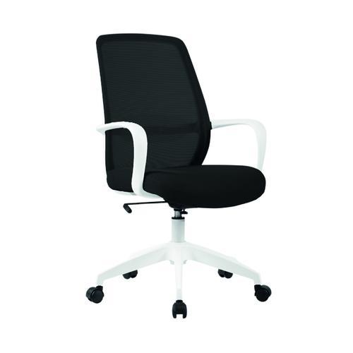 First Soho Task Chair Black Mesh White Frame KF90881