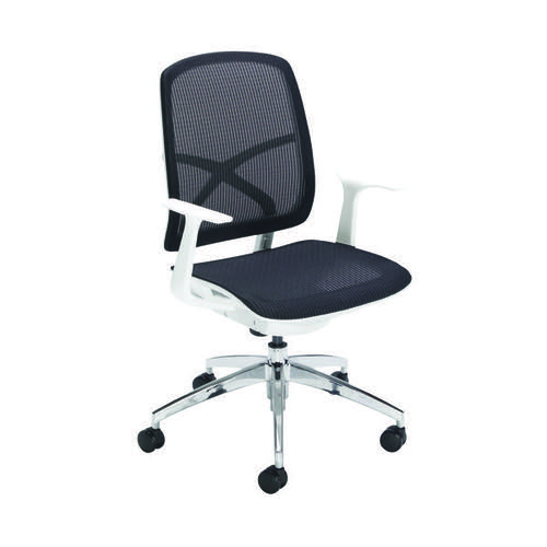 First Soho Task Chair Black Mesh/White KF90882