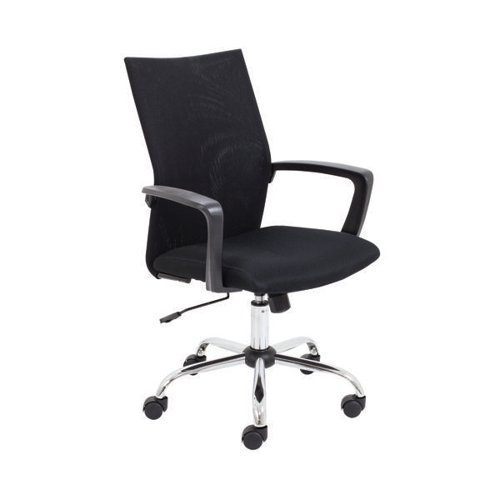 First One Task Mesh Chair With Arms Black KF90883