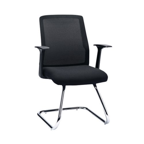 First Visitor Chair With Chrome Frame CH3302BK