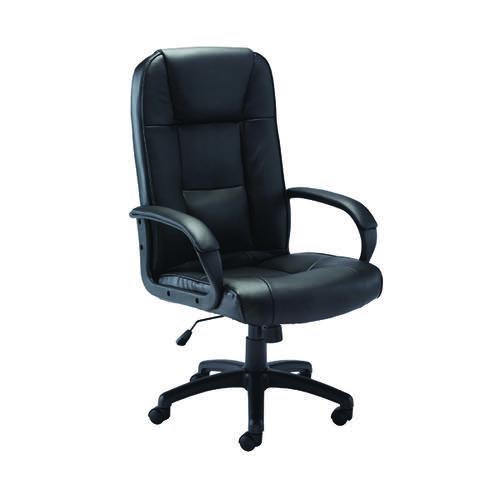 Jemini Caspian Leather Look Chair Black KF90892