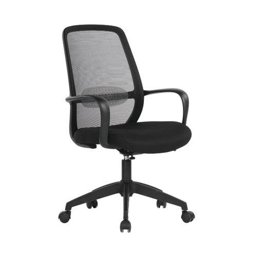Jemini Stratus Task Chair 640x640x965-1040mm Mesh Back Black KF90895