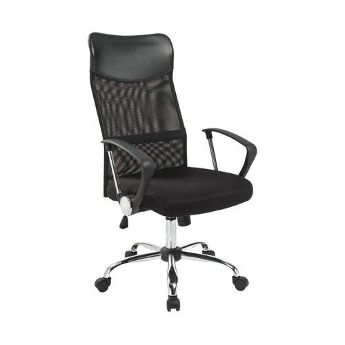 Jemini High Back Nimbus Chair 610x670x1110-1205mm Mesh Back Black KF90896