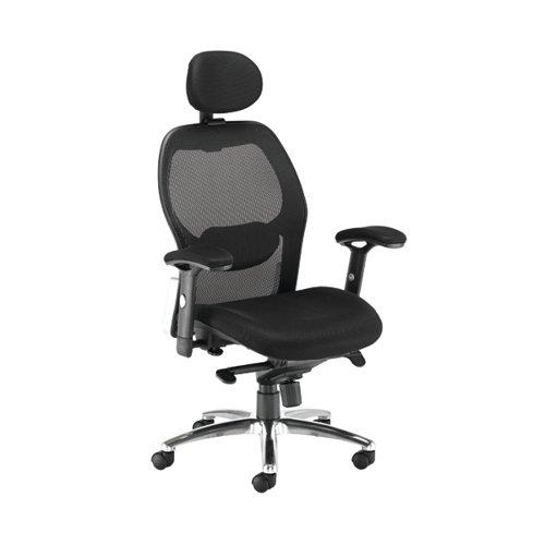 Arista Topaz Chair 680x640x1180-1280mm Mesh Back Black KF90898