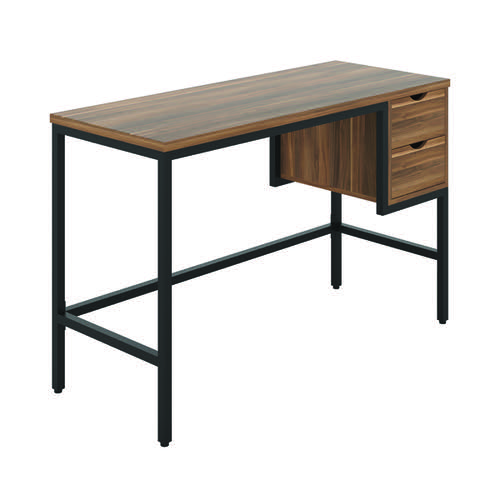 Jemini Soho Computer Desk with 2 Drawers 1200x480x770mm Dark Walnut/Black KF90924