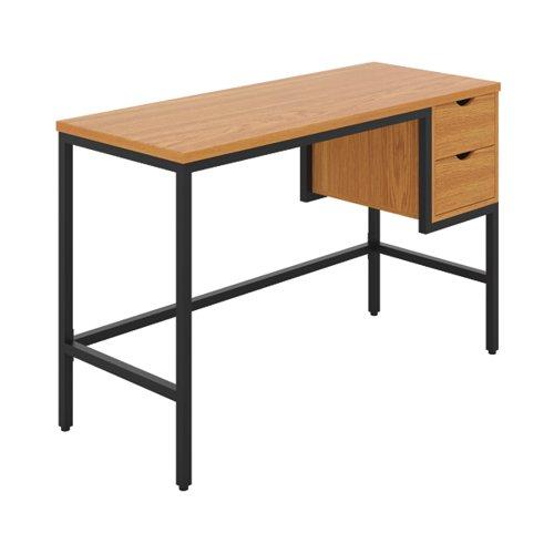 Jemini Soho Computer Desk with 2 Drawers 1200x480x770mm Oak/Black KF90926