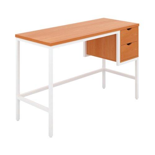 Jemini Soho Computer Desk with 2 Drawers 1200x480x770mm Beech/White KF90927