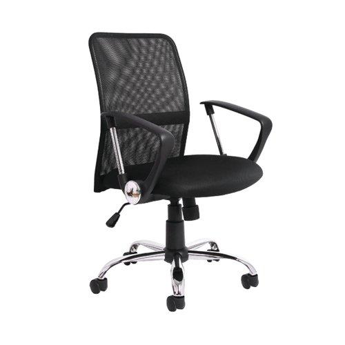 Jemini Medium Back Nimbus Chair 580x550x935-1030mm Mesh Back Black KF90930