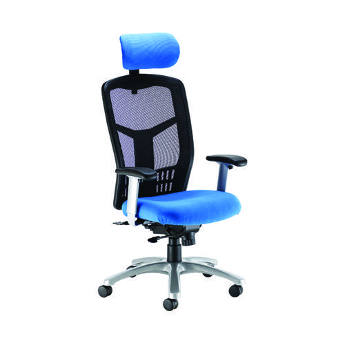 Arista Staffordshire Heavy Duty Chair 670x780x340mm Blue KF90933