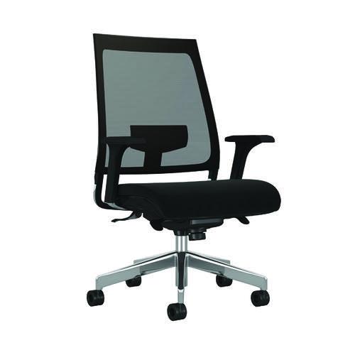 Arista Aster High Back Mesh Back Chair 700x660x515mm Black KF90934