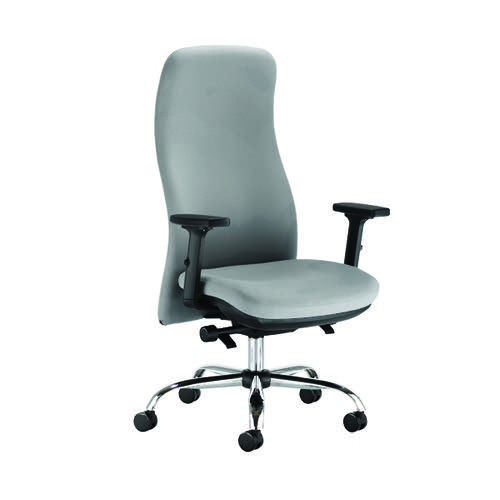 Capella Tempest Posture Chair With 2D Arms Grey KF90935