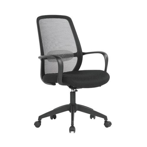 First Soho Task Chair 640x640x965-1040mm Mesh Back Black KF90954
